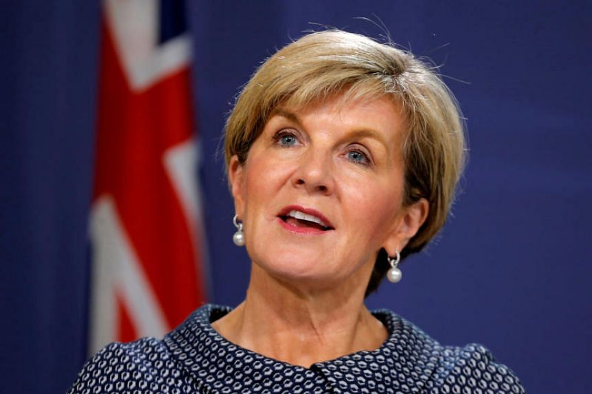 Australia's former foreign minister Julie Bishop (above) told a talk in Adelaide that US First Lady Melania Trump thought her partner David Patton was the foreign minister, instead of her.