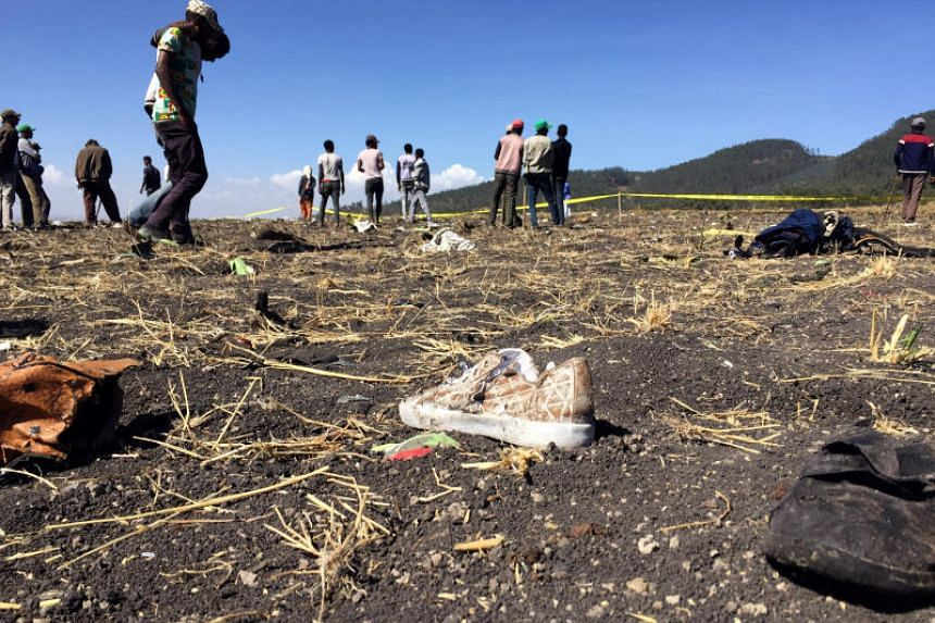 Flight ET 302 crashed near the town of Bishoftu, 62 kilometres south-east of Addis Ababa, the airline said, confirming the plane was a Boeing 737-800 Max.