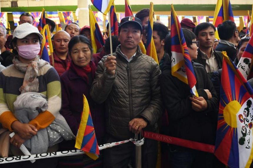 Supporters chanted and prayed at the Buddhist shrine in Dharamsala, where the Dalai Lama established a government-in-exile after fleeing a deadly Chinese crackdown in Tibet in 1959.
