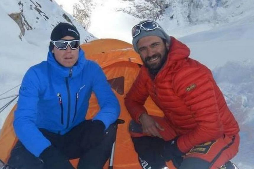 Climbers Tom Ballard and Daniele Nardi were last heard from on Feb 24 as they climbed the Nanga Parbat, which at 8,125 metres is the world's ninth-highest peak.