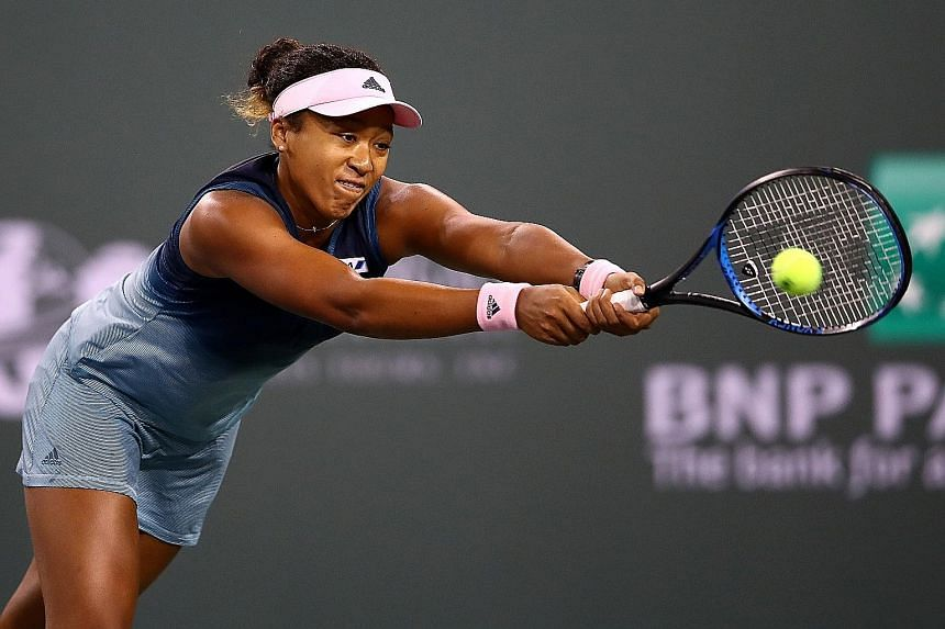 Naomi Osaka marched through the opening set in 38 minutes against Kristina Mladenovic on Saturday but struggled in the second set before getting a grip and wrapped up the match in one hour and 21 minutes. .