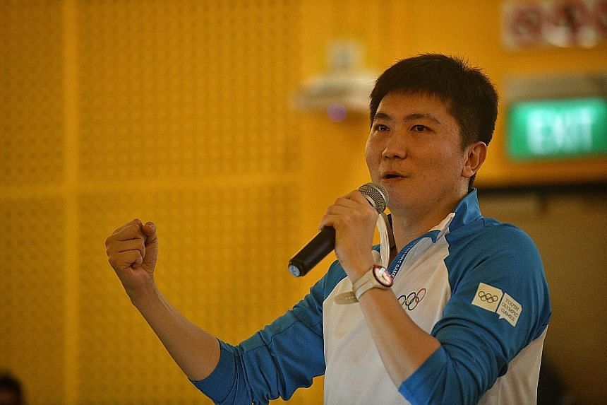 Ryu Seung-min, 2004 Olympic table tennis gold medallist, told participants at the South-east Asia Youth Sport Leaders Camp that they have to be patient when chasing their goals.
