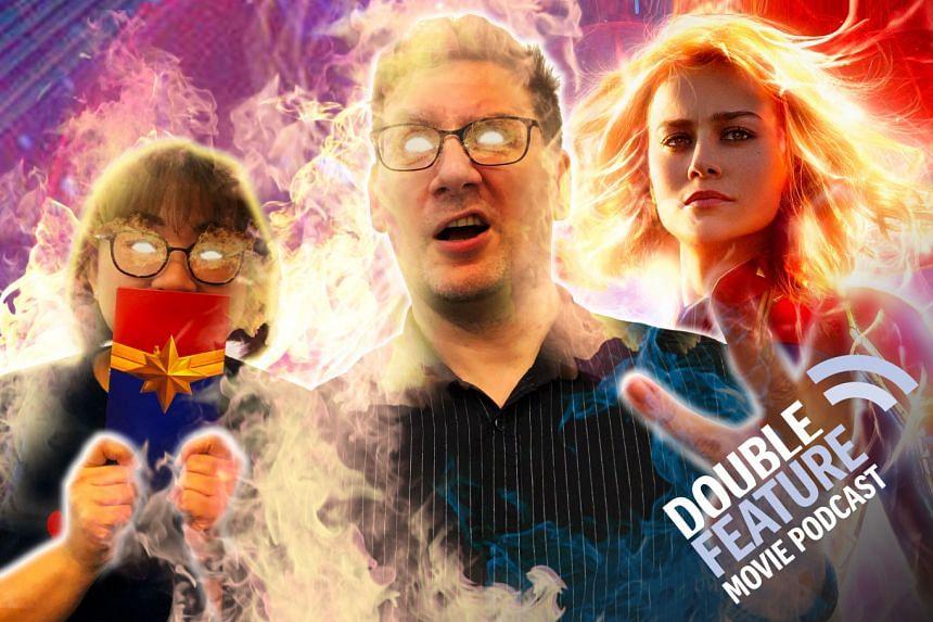 Captain Marvel Spoiler review Double Feature Movie Podcast