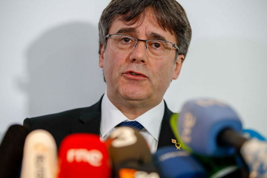 Puigdemont (above) fled Spain in October 2017 after Madrid imposed direct rule on Catalonia.