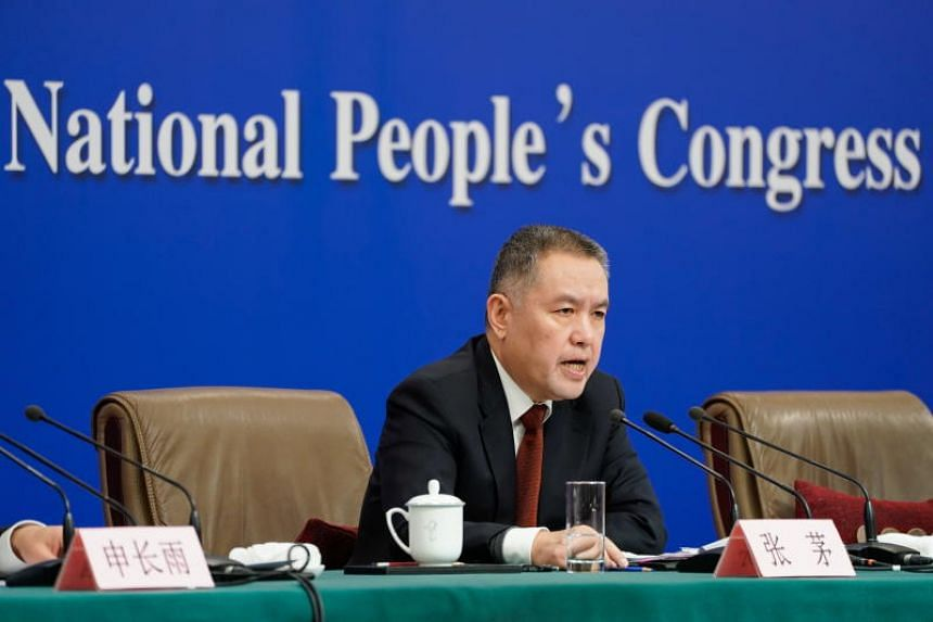 China's Minister of State Administration of Market Regulation Zhang Mao attends a press conference on the sidelines of the second session of the 13th National People's Congress in Beijing, China on March 11, 2019.