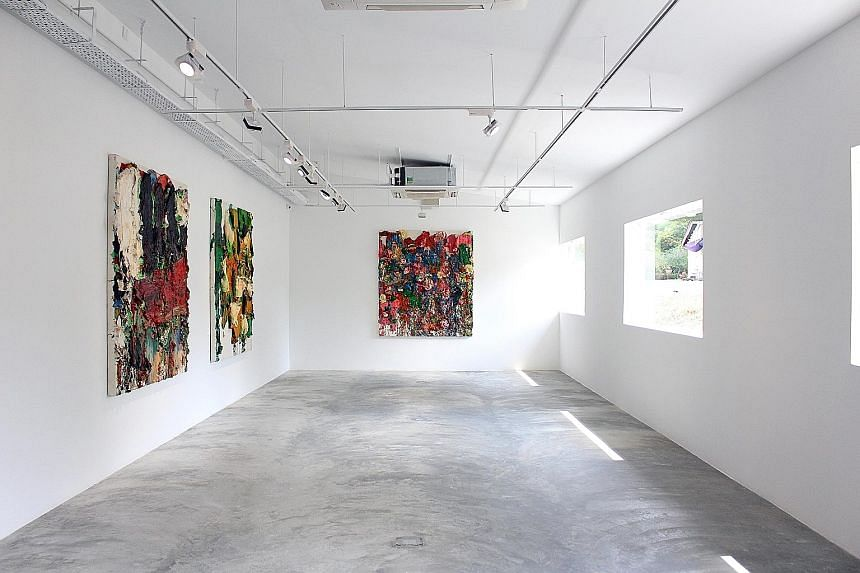 The gallery (above), which used to be at Gillman Barracks, opened with a new show, What You See Is What You See (right), which includes the works of a Singaporean artist and Asian and American artists.