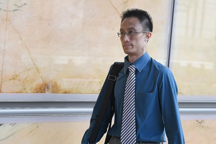 """Ler Teck Siang arriving at the High Court yesterday. The judge rejected his explanations, saying they were """"creative but baseless and, in part, illogical""""."""