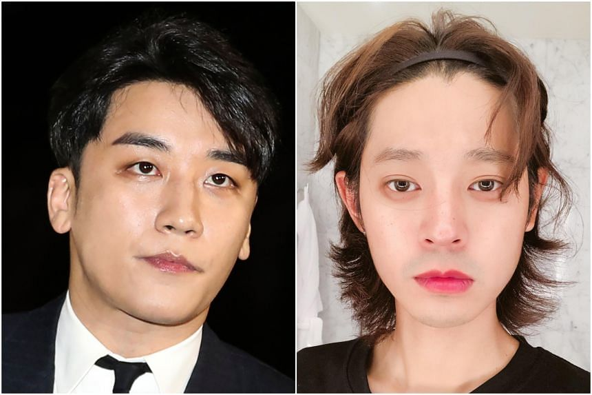 Jung Joon-young (right), a K-pop singer, illicitly taped sex videos and shared them via mobile messenger group chats that included Seungri.