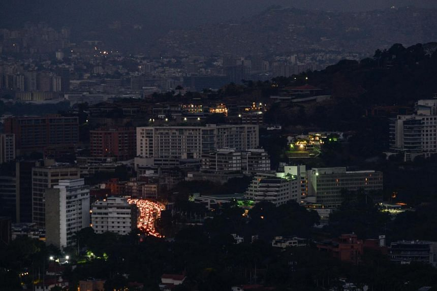 View of Caracas during a partial power outage on March 9, 2019.