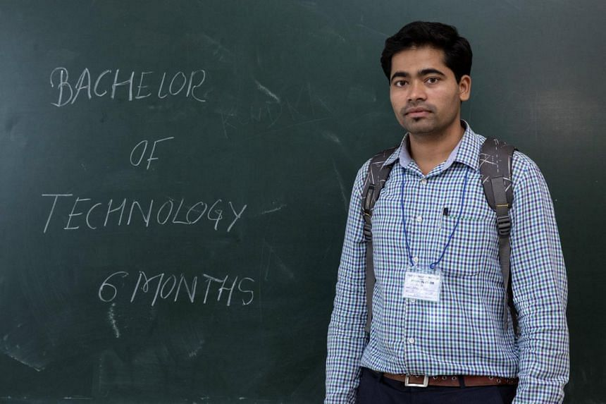 Santosh Gurav is one of hundreds of thousands of engineers from India's education system who have little prospect of finding a job in their field.