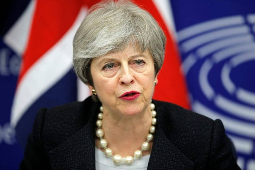British Prime Minister Theresa May at a news conference in Strasbourg, France, on March 11, 2019.