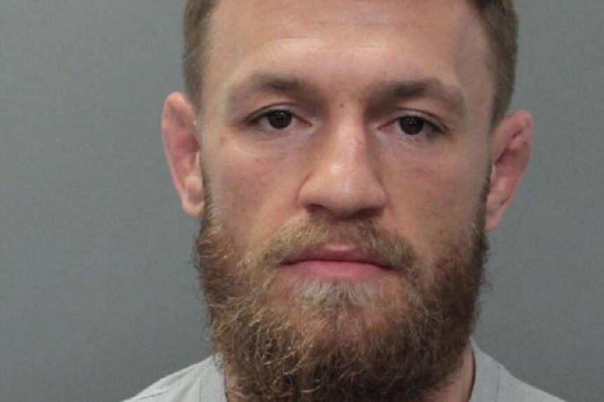 Conor McGregor was booked into the Turner Guilford Knight Correctional Centre in Miami on suspicion of robbery and criminal mischief, according to an arrest affidavit filed in connection with the incident.