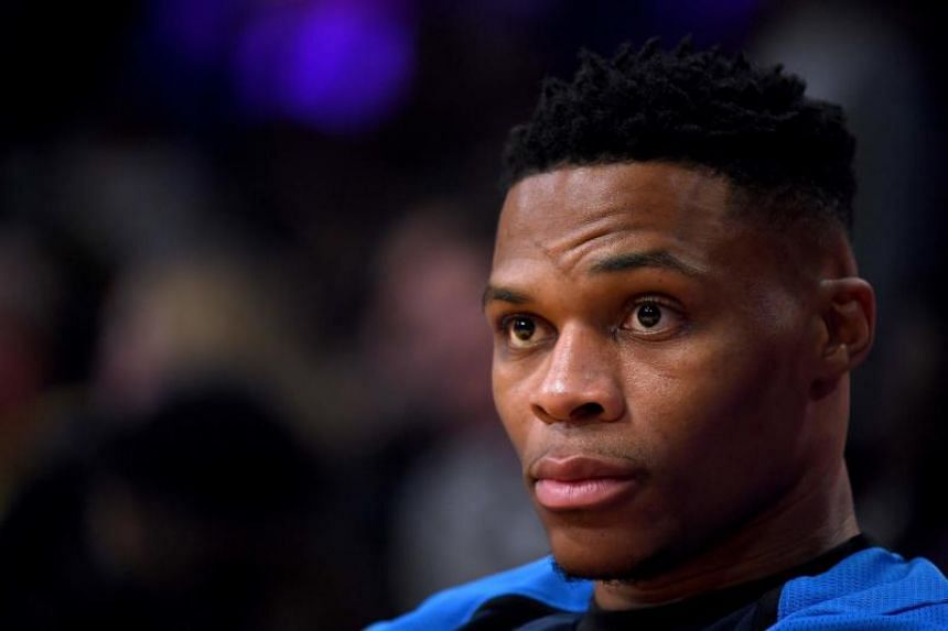 """Russell Westbrook addressed the incident and said it began when the fan and his wife told the All Star player to """"get down on your knees like you're used to""""."""