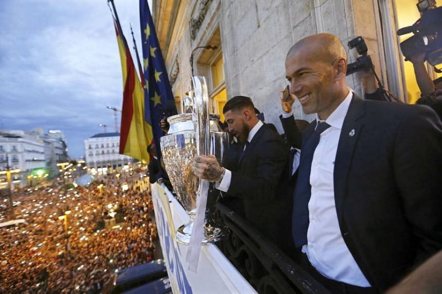 Zinedine Zidane led Real Madrid to victory in the Champions League in the last three seasons.