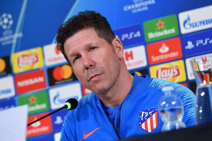 Atletico Madrid coach Diego Simeone's side take a 2-0 lead into the second leg of their last 16 clash with Juventus at the Allianz Stadium on March 12, 2019.