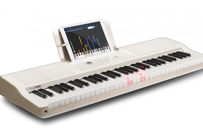 The One Light smart keyboard uses LEDs to help you learn the piano. PHOTO: The One Music Group