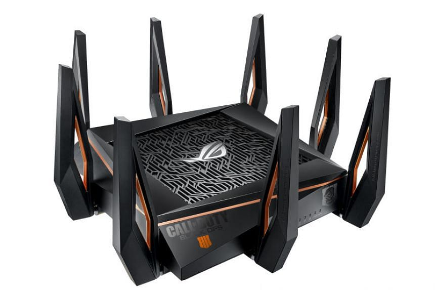 The Asus ROG Rapture GT-AX11000 is a tri-band gaming router that supports Wi-Fi 6.