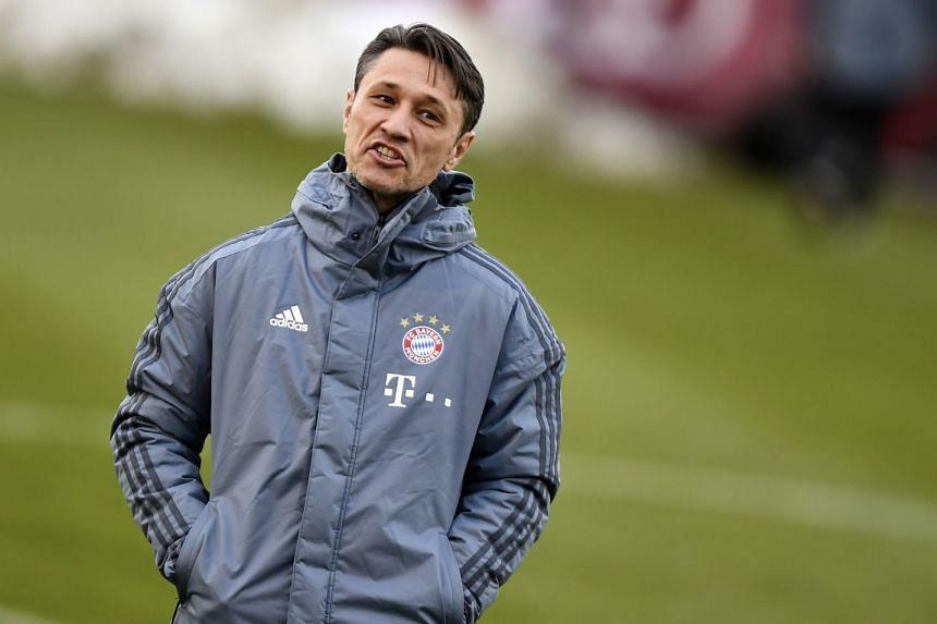 Bayern's head coach Niko Kovac attends a training session in Munich, March 12, 2019.