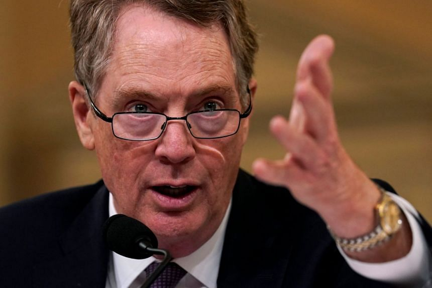Top trade official Lighthizer (above, in a file photo) told a US Senate Finance Committee that major issues remained.