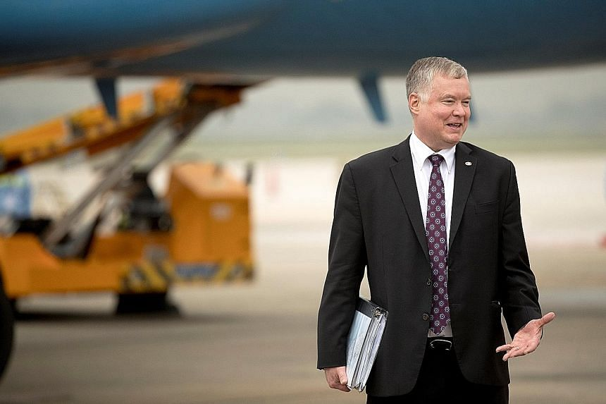 US special envoy for North Korea Stephen Biegun says Washington remains wedded to its all-or-nothing approach to denuclearisation.