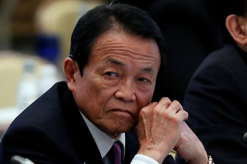 Japanese Finance Minister Taro Aso's comments came after a report saying that South Korean lawyers were considering trying to seize the assets of Japanese companies in Europe.