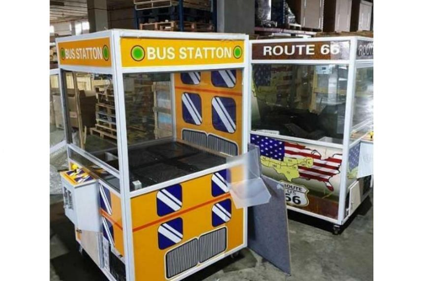 The Immigration and Checkpoints Authority found that the interior of the machine was hollow and contained duty-unpaid cigarettes wrapped in several black bundles.