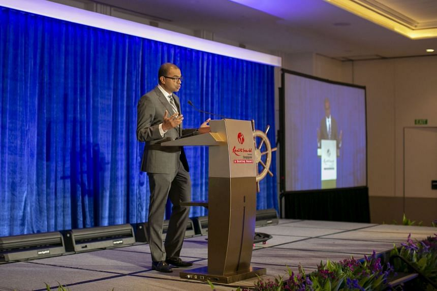 Senior Minister of State for Transport Dr Janil Puthucheary speaking at the first World Congress on Maritime Heritage on March 13 2019.