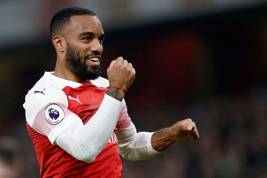 Lacazette (above) was hit with a three-game ban by European soccer's governing body for serious rough play.