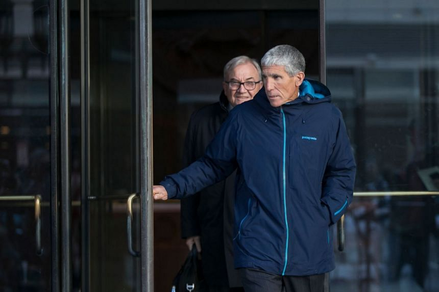 William Singer leaving the federal courthouse in Boston after pleading guilty to charges related to college admission schemes.