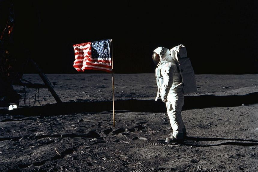 Astronaut Buzz Aldrin on the lunar surface in this photo taken on July 20, 1969. The documentary Apollo 11 contains real-life footage of the mission.