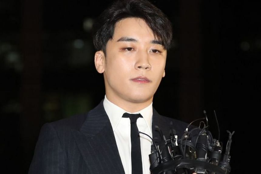 South Korean pop star Seungri (above) has been linked to a group chat where singer Jung Joonyoung shared illicitly taped sex videos.