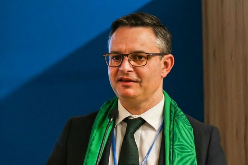 Green Party co-leader James Shaw was walking to the parliament building known as the Beehive when a man punched him in the face.