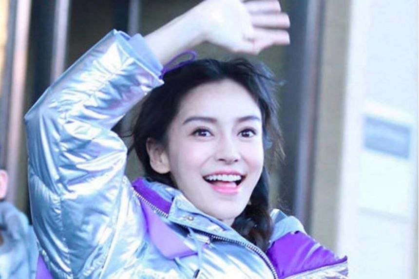 Sources said Chinese actress Angelababy sought treatment only after filming ended, as she did not want to interrupt the filming even though she had injured her finger.