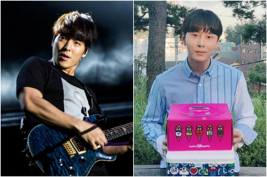 Rock band FT Island's Choi Jong-hoon (left) and boyband Highlight's Junhyung (right) have quit showbiz in the latest fallout from a seemingly ever-widening K-pop scandal.