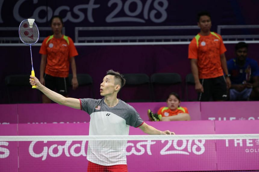 Malaysian badminton player Lee Chong Wei training at the Carrara Indoor Sports Centre before the start of Commonwealth Games 2018 in Gold Coast, Australia, on April 3, 2019.