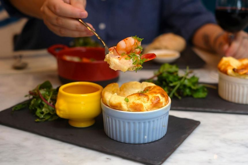 Souffle in Duxton Hill focuses on souffles - both savoury and sweet.
