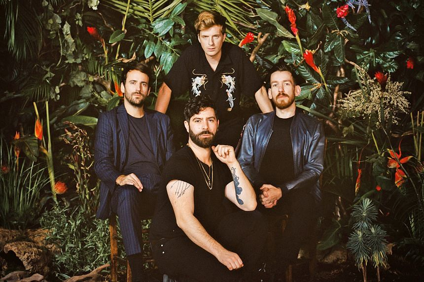 English band Foals comprise (clockwise, from left) Jimmy Smith, Jack Bevan, Edwin Congreave and Yannis Philippakis.