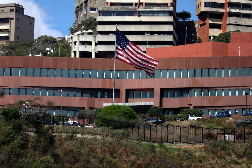 The US Embassy in Caracas, March 12, 2019.