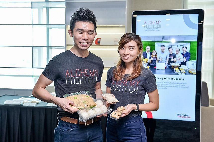 Mr Alan Phua and his wife, Ms Verleen Goh, are the co-founders of Alchemy Foodtech, whose products lower the glycaemic index of foods such as white rice and bread. It is one of many start-ups that have benefited from ESG's assistance in expanding to