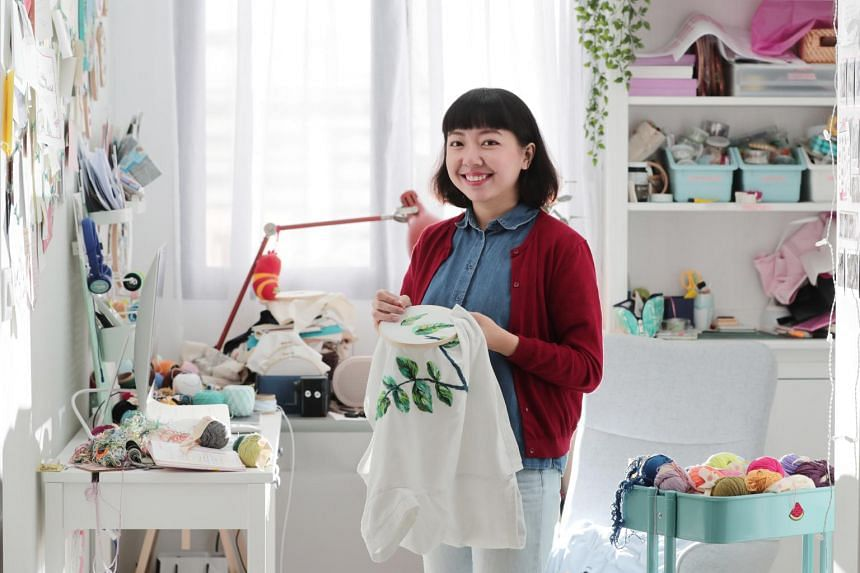 Embroidery artist and illustrator Teresa Lim spends most of her weekdays conceptualising and stitching artworks for brands and private commission projects.