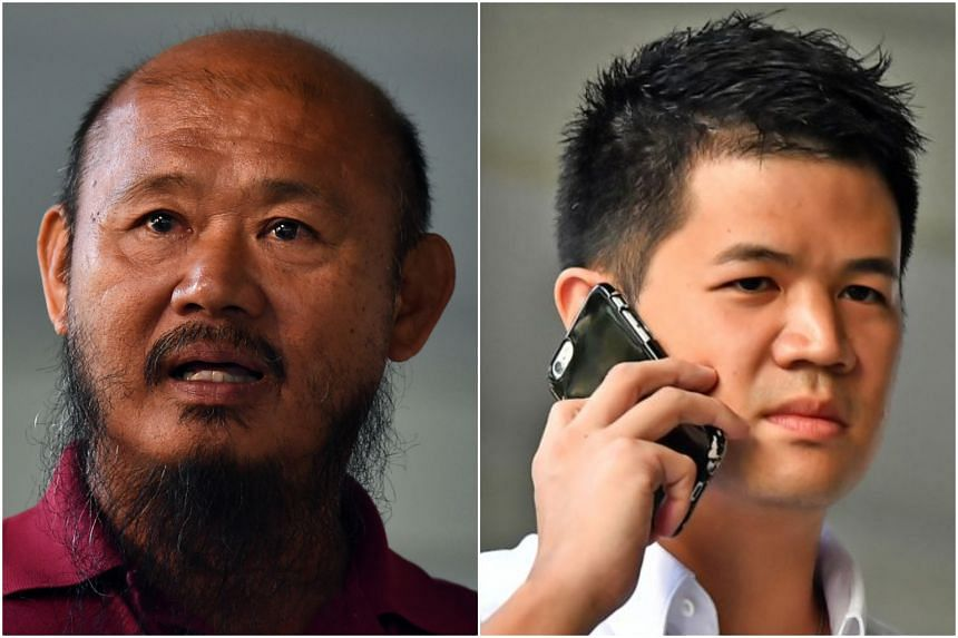 Lorry driver Teo Seng Tiong (left), who was ready to plead guilty to negligence, has claimed trial for the more serious offence of committing a rash act so as to cause hurt to cyclist Eric Cheung Hoyu. Teo faces a second charge of failing to make a p