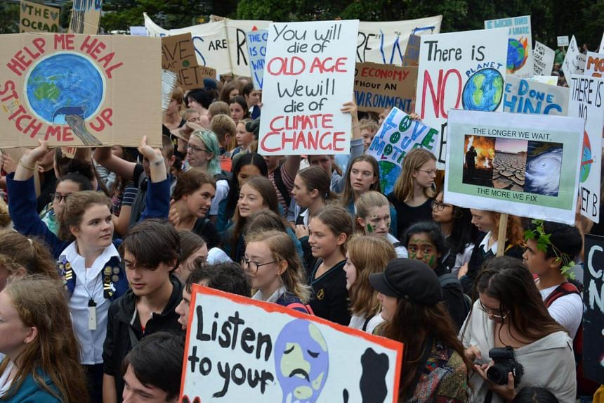 Student protests on climate change were held in 30 towns and cities across New Zealand.