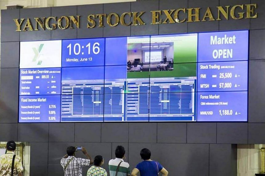 The Yangon Stock Exchange is home to only five companies and it updates prices just four times a day.