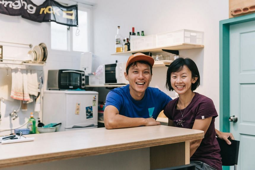 Singaporean couple Mr Cheang Qing Xin and Ms Kelly Khiew are rock climbers turned climbing guides who also run a hostel in Taiwan.