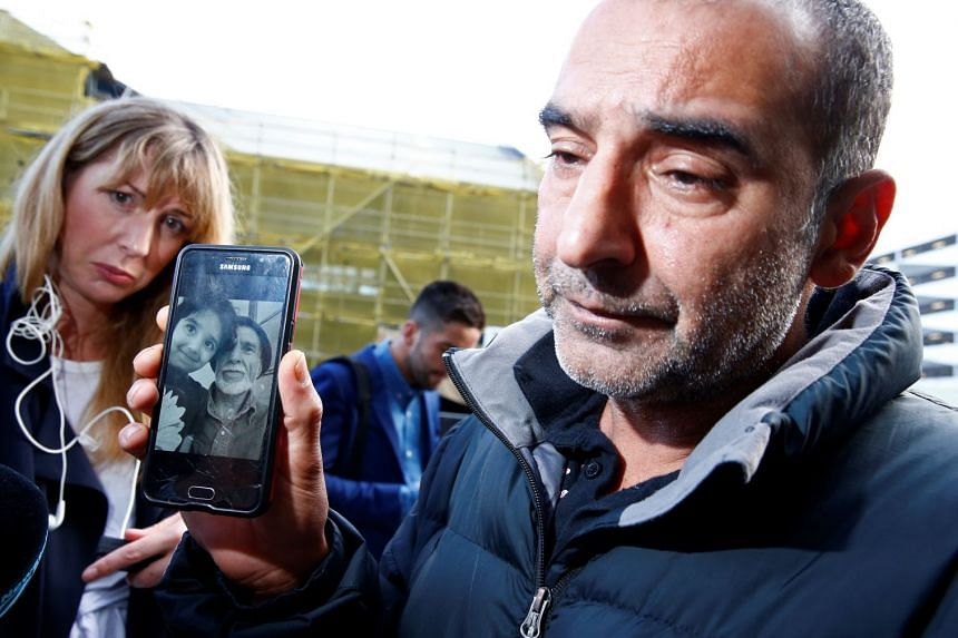 Yama Nabi speaks to the media about losing his father Haji Daoud in the mosque attacks.