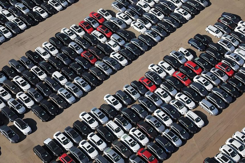 Reacquired Volkswagen and Audi diesel cars in a desert graveyard in California. Volkswagen has offered to buy back about 500,000 polluting vehicles in the United States.