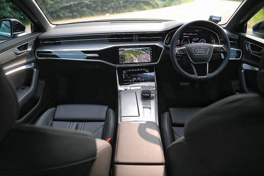 The Audi A6 is packed to the hilt with technology and dynamic features, including all-wheel-drive, variable all-wheel steering and a 48-volt electrical system which allows for engine-off coasting under certain conditions. The Audi A6 rides beautifull
