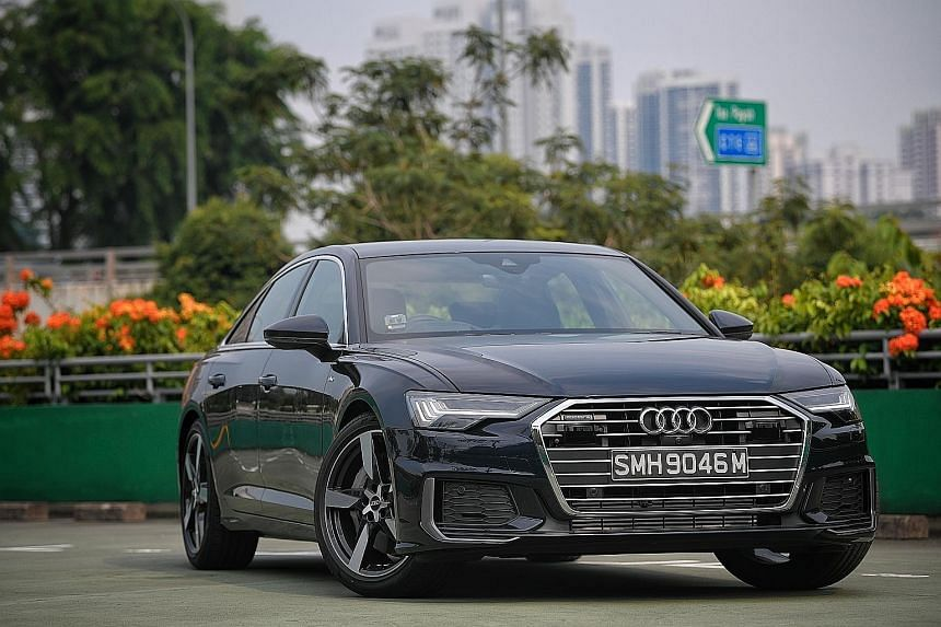 The Audi A6 rides beautifully, with a limousine-like suspension system which irons out the many kinks and blemishes on Singapore roads.