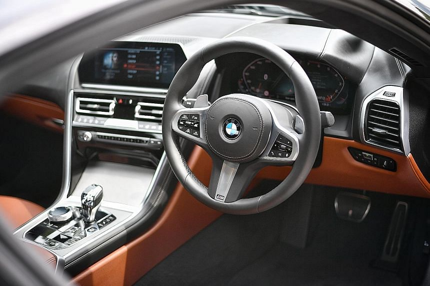 The interiors stand out with touches such as the application of glass on the top of the gear lever, iDrive rotary control and Start button, and metal file surfaces for the iDrive knob and air-conditioner louvres.