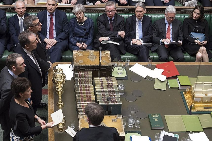 British lawmakers voted on Thursday night to allow the government to seek a delay for Britain's departure from the European Union., but the Conservative Party is still severely split.